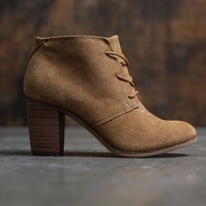 Toms lunata lace up oxford booties